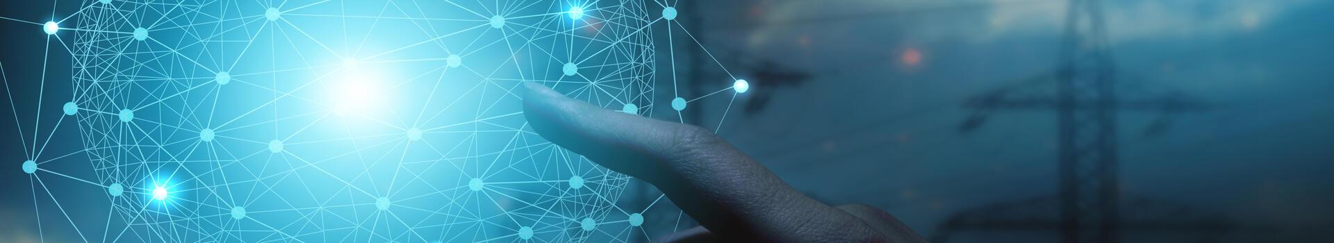Futuristisk bilde av fremtidens strømnett med brukerinvolvering